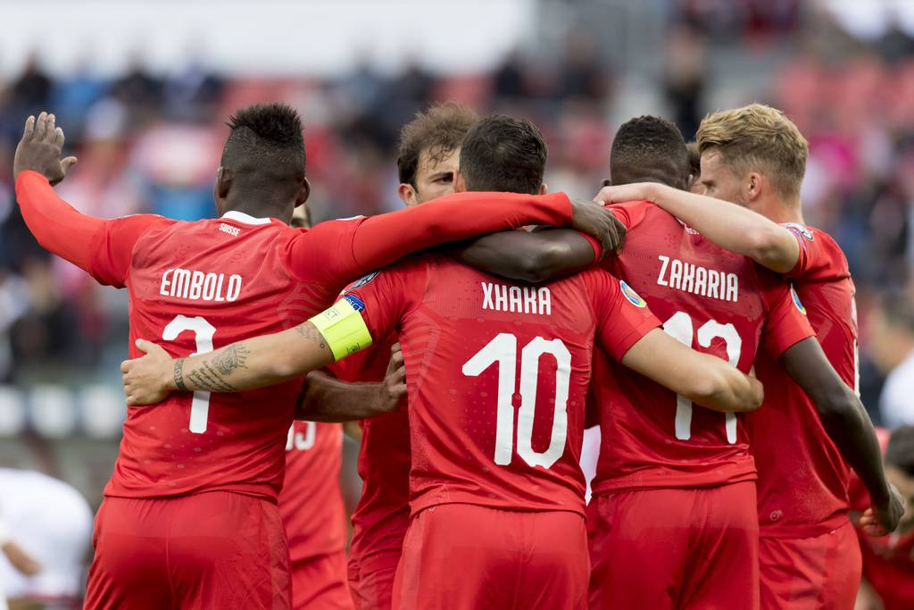 Die Schweiz gewinnt im EM-Qualifikationsspiel gegen Gibraltar mit 4:0. (© Keystone)