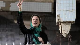 Seit ihrem Auftritt am 15. April 2011 ist Gaddafis Tochter Aischa nicht mehr öffentlich aufgetreten. Key