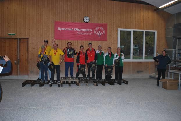 Das Siegertreppchen beim Special Olympics Switzerland.
