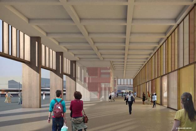 Der Eingang ins Stadiongebäude heisst Stadtloggia