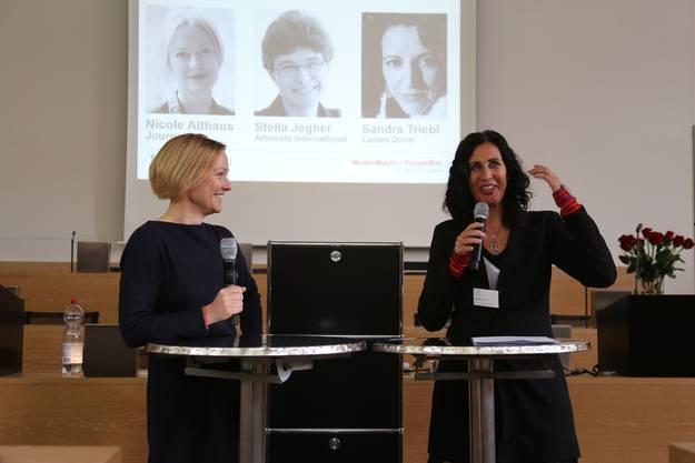Nicole Althaus (l) und Regula Stämpfli