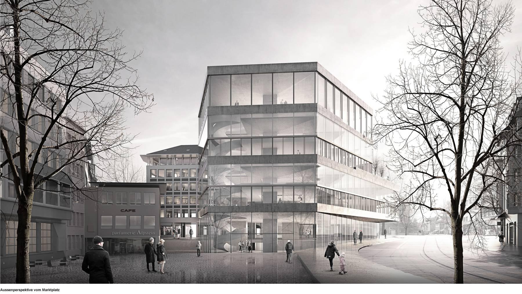 So soll die Bibliothek aussehen. (Visualisierung)