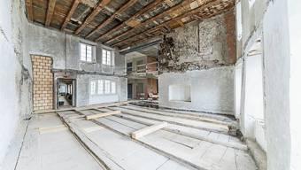 Umbau in der Station Milchgasse: Innenwände und Decken wurden bereits entfernt.