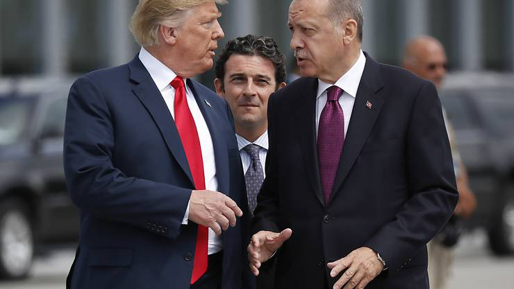 Trotz Spannungen: US-Präsident Donald Trump (links) will den türkischen Präsidenten Recep Tayyip Erdogan (rechts) am 13. November in Washington erneut treffen. (Archivbild)