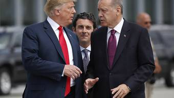 Trotz Spannungen: US-Präsident Donald Trump (links) will den türkischen Präsidenten Recep Tayyip Erdogan (rechts) am 13. November in Washington erneut treffen. (Archivbild)