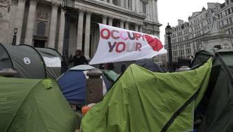Das Lager der Occupy-Bewegung in London (Archiv)