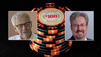 Die beiden Nationalräte Kurt Fluri (links) und Beat Flach (rechts) äussern sich zum Geldspielgesetz.