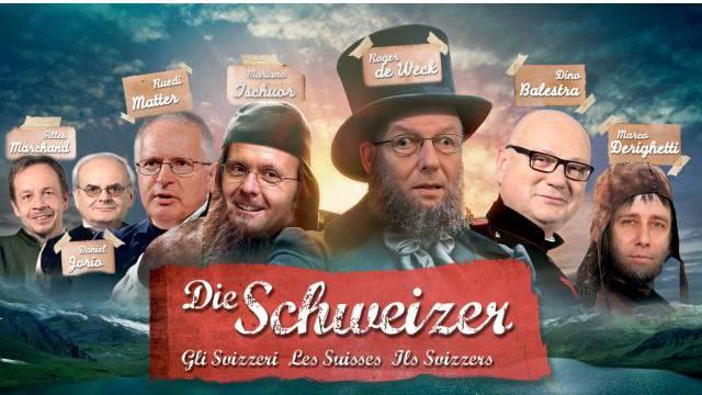 Das Männergremium, das die Frauen aus der Schweizer Geschichte tilgte: SRG-Geschäftsleitung. Bild: SRG / Montage: SAS