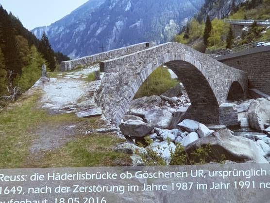 Häderlisbrücke UR im Jahr 2016 neu aufgebaut