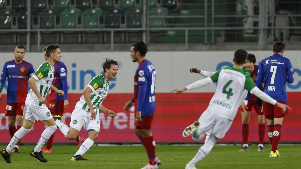 St. Gallen gewinnt Spitzenspiel gegen Basel