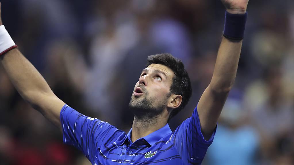 Erleichterung beim Topfavoriten: Novak Djokovic scheint seine Schulterprobleme in den Griff bekommen zu haben und steht am US Open im Achtelfinal