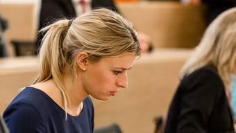 Karin Bertschi in der ersten Grossratssitzung 2017.