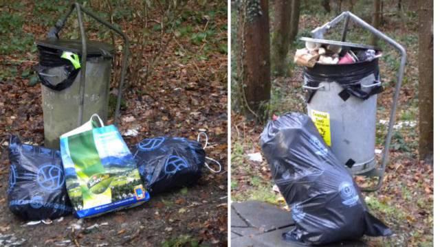Jede Woche das selbe Bild Wilde Mülldeponien.