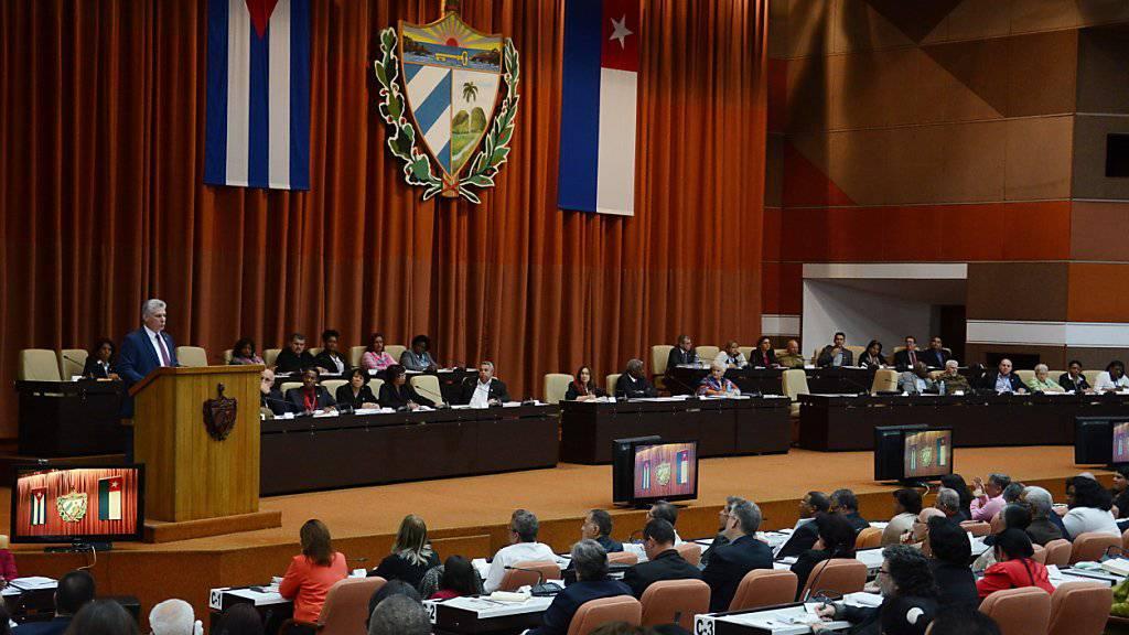 Sitzung der kubanischen Nationalversammlung in Havanna.