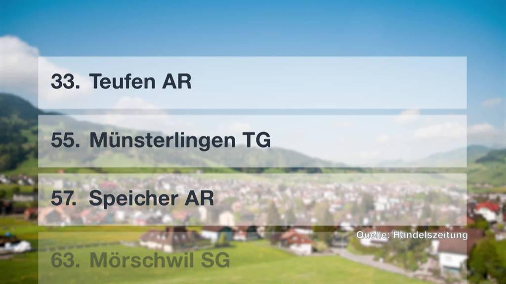Gemeinderanking: Ostschweiz schneidet schlecht ab