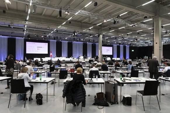 Die Nationalratsdebatte wird in der BernExpo stattfinden. Foto: Keystone