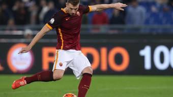 Edin Dzeko bringt für Rom gegen La Spezia nichts zustande