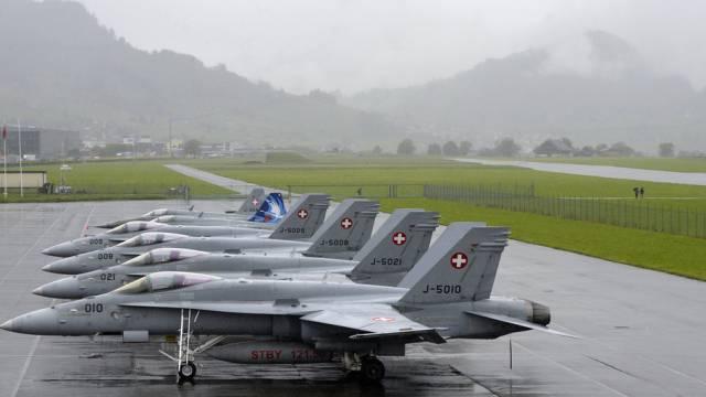 Wie geht es weiter mit der Luftwaffe? Im Bild: F/A 18 Flugzeuge