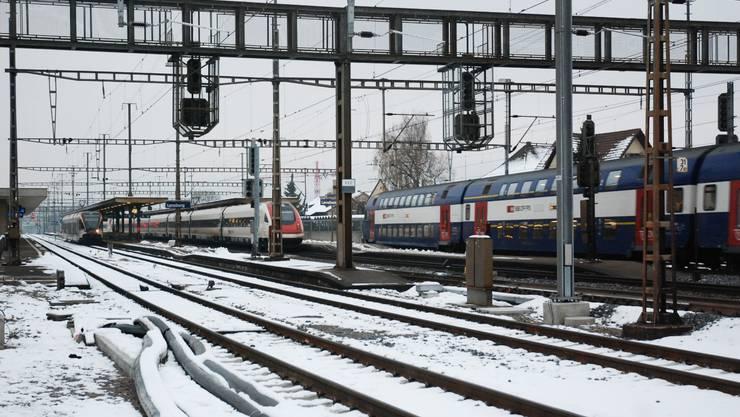 Dank dem dritten Gleis im Gebiet Gexi wird der Bahnhof Lenzburg wieder zur Drehscheibe für den öffentlichen Verkehr des Freiamts.
