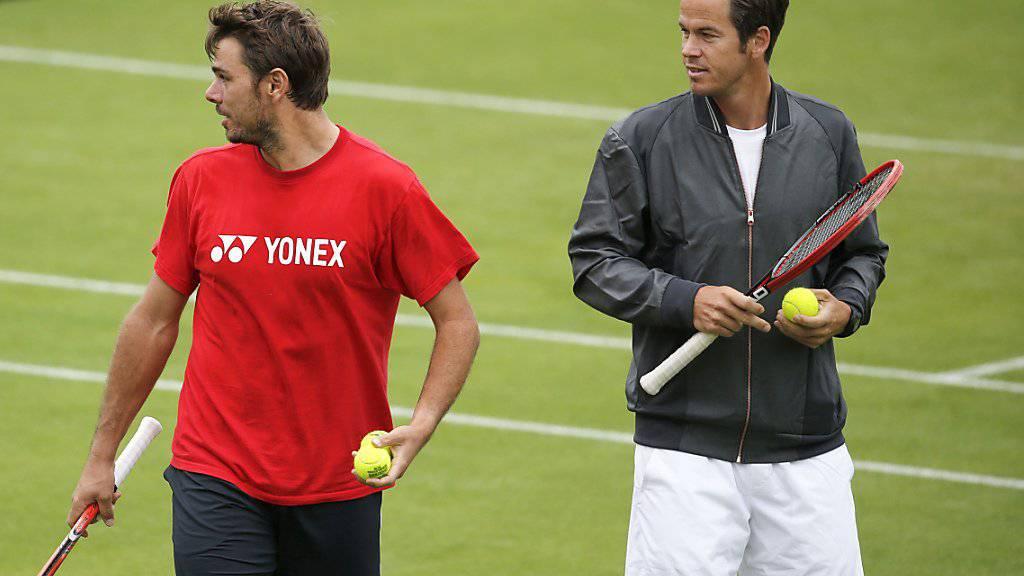 Magnus Norman (rechts) ist künftig nicht mehr Trainer von Stan Wawrinka (links).