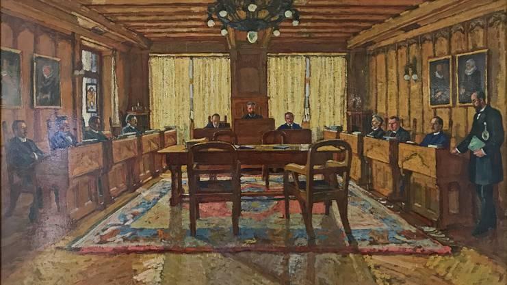 Früher hatte jeder Stadtrat sein eigenes Pult, heute sitzen sie am runden Tisch.