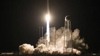 """Start der """"Cygnus"""" am Samstag von einem Weltraumbahnhof im US-Bundesstaat Virginia."""