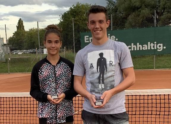 Lea Markovic (14&U) und Vladan Krisan (18&U) sind Aargauer Meister