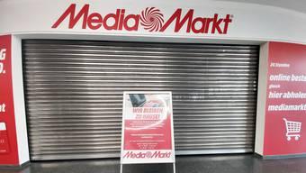 Geschäfte wie der Media Markt in Aarau sind bis auf Weiteres geschlossen.