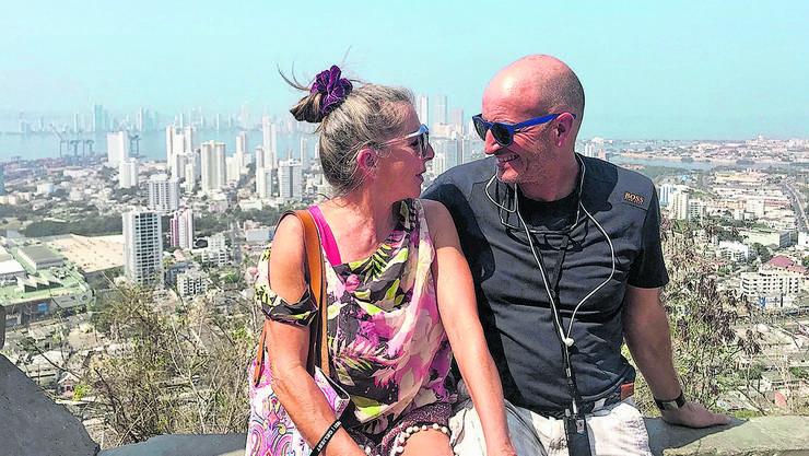Da waren sie noch unterwegs: Flavio und Christa De Luigi in Cartagena an der kolumbianischen Karibikküste.