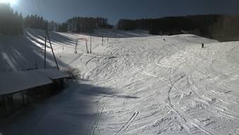 Skigebiet Langenbruck: So sehen die aktuellen Schneeverhältnisse in der Oberen Wanne aus.