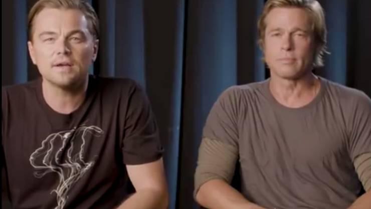 """""""Diese Wahl könnte die Wichtigste unseres Lebens sein"""": die US-Schauspieler Leonardo DiCaprio und Brad Pitt."""