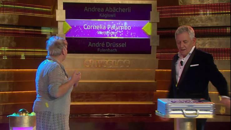 Cornelia Palumbo aus Wettingen gewinnt die Million.