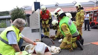 Die Feuerwehr Brugg – hier an der Hauptübung im Juni – geniesst einen ausgezeichneten Ruf.