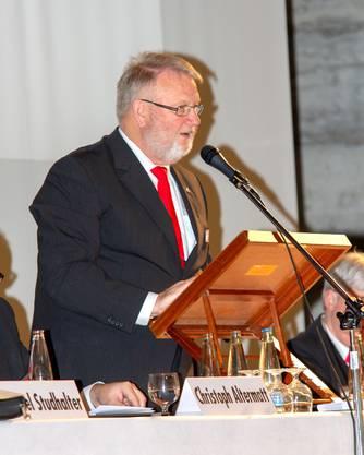 Der neu gewählte Präsident Jürg Dietschi.