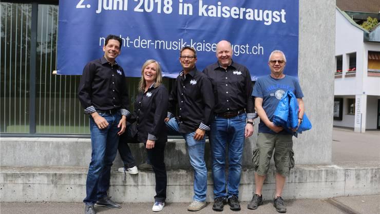 Das Organisationskomitee freut sich auf die erste Ausgabe der «Langen Nacht der Musik» in Kaiseraugst. Dennis Kalt