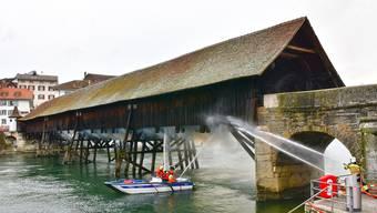 Brand der Alten Brücke in Olten vom 28. März 2018