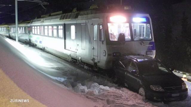 Steckengeblieben und von Zug erfasst