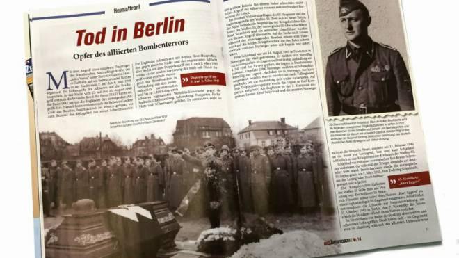 Im Heft «Zeitgeschichte» ist der SS-Soldat vor allem Held und Opfer.