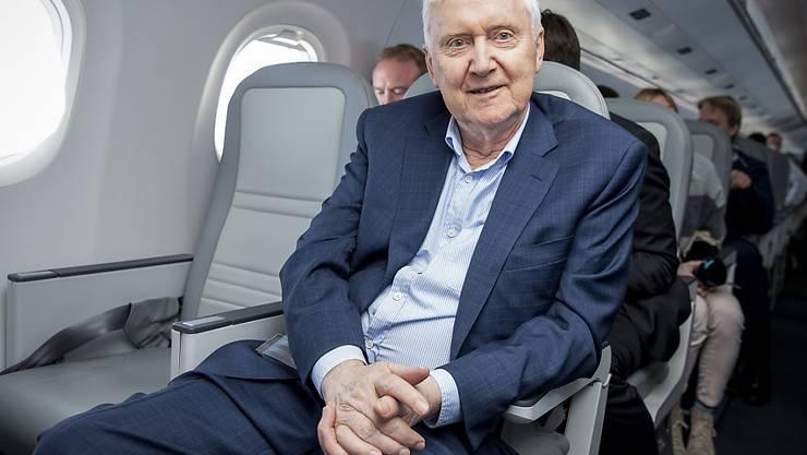 """""""Natürlich gibt es einen Klimawandel"""": Martin Ebner, Investor und Besitzer der Schweizer Fluggesellschaft Helvetic. (Archivbild)"""