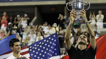 Roger Federer bezwang 2007 Novak Djokovic im Final der US Open.