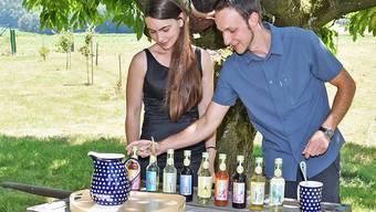 Sirupmacher Felix Ott und Anna Bärtschi Dulliken