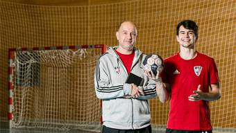 Trainer Tom (l.) und Spieler Timothy Reichmuth.