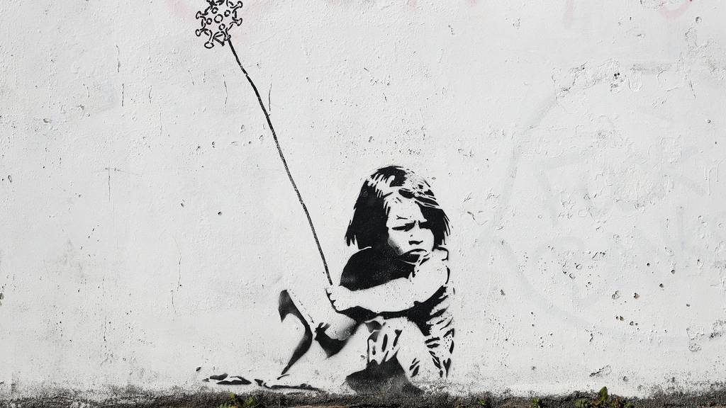 Neue Banksy-Bilder werben für das Tragen von Masken