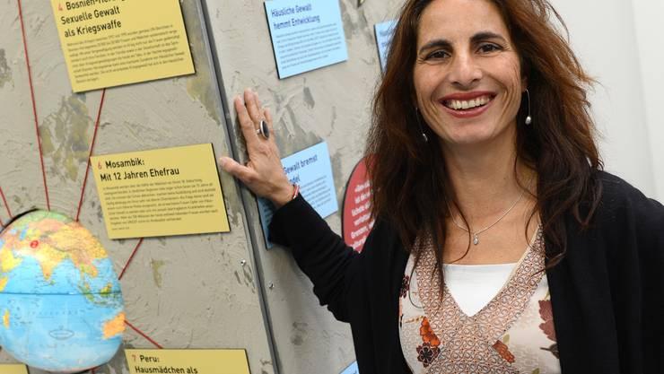 Maja Loncarevic von Iamaneh Schweiz bringt die internationale Dimension der häuslichen Gewalt nach Basel.
