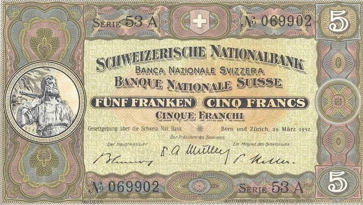 Die 5er-Note aus dem Jahr 1914.