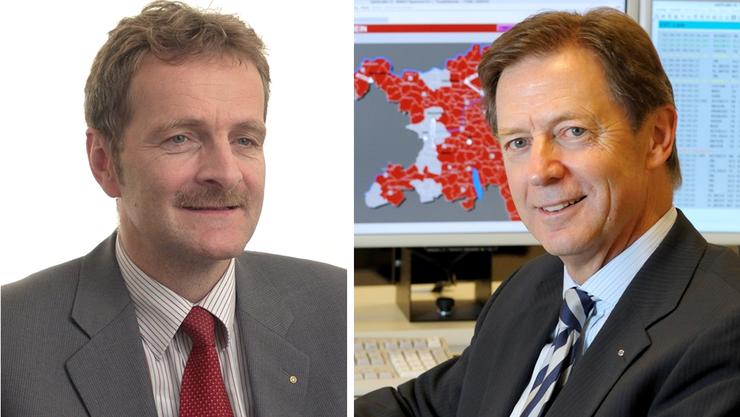 Die Unternehmer Hans-Jörg Bertschi und Ernst Werthmüller sprechen sich gegen die Ecopop-Initiative aus.