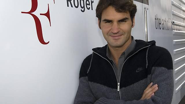 Relaxed in Basel: Roger Federer