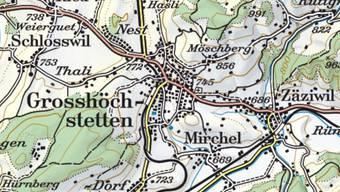 Im bernischen Grosshöchstetten ist am Mittwoch ein Auto mit einem Einsatzfahrzeug der Feuerwehr zusammengestossen. Dieses war unterwegs zu einem Brand in Schlosswil.