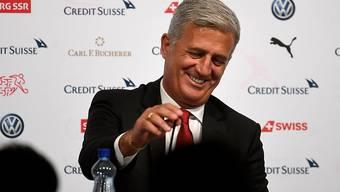 Der Schweizer Nationalcoach Vladimir Petkovic blickt der WM optimistisch entgegen.