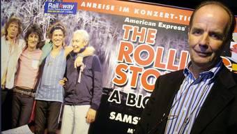 «Wenn ich sie mit Acts wie U2 vergleiche, die zuletzt mit 106 Sattelschleppern unterwegs waren, ist es bei den Stones bescheiden»: André Béchir.